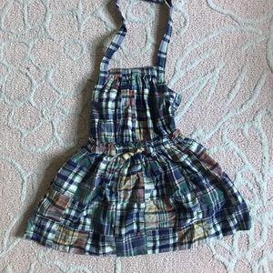 J Crew Madras Plaid Little Girls Halter Dress 3T